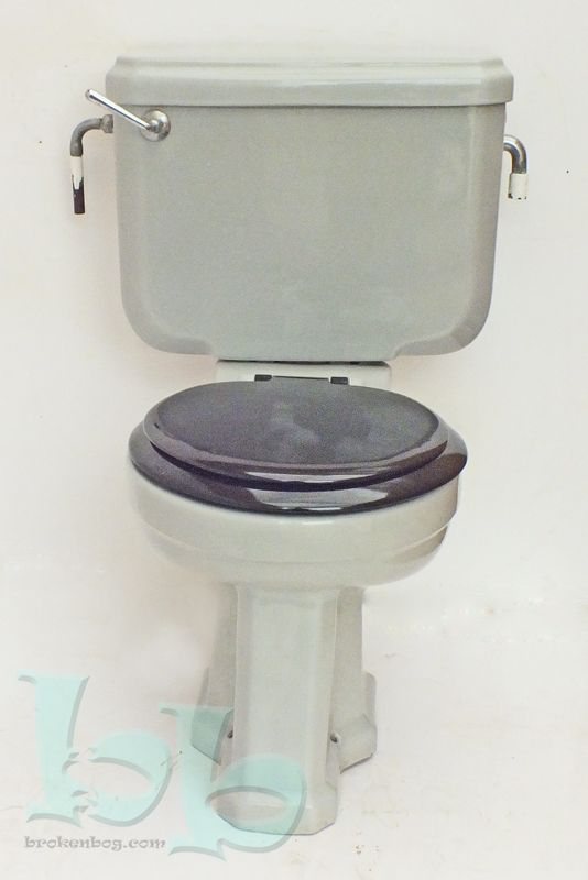 Standard vedet art deco wc toilet pan cistern in grey circa 1940 s 50 s - Deco toilet zwart ...